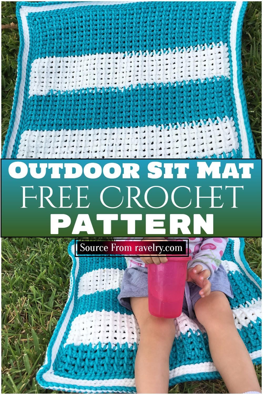 Free Crochet Outdoor Sit Mat Pattern