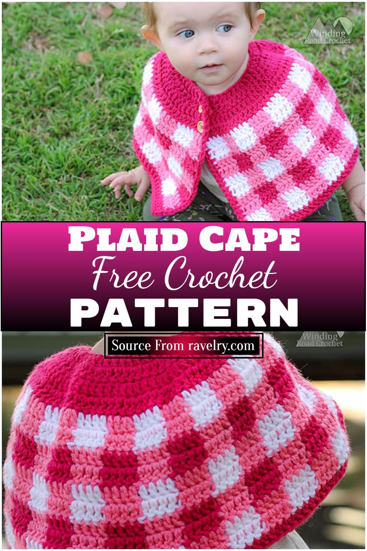 Free Crochet Plaid Cape Pattern