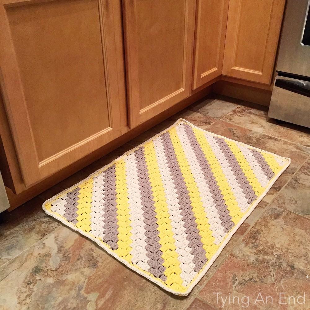 Free Crochet Pop Floor Mat Pattern