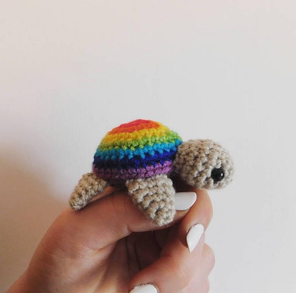 Free Crochet Pride Turtles Pattern