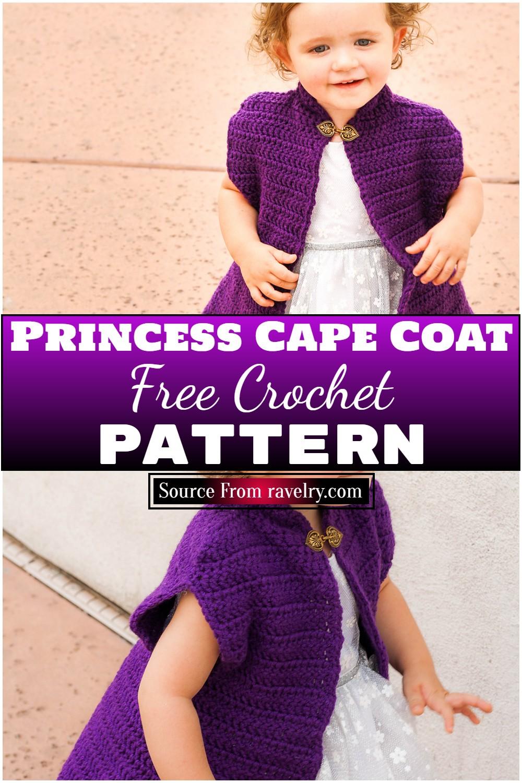 Free Crochet Princess Cape Coat Pattern