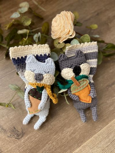 Free Crochet Rag Doll Squirrel Pattern