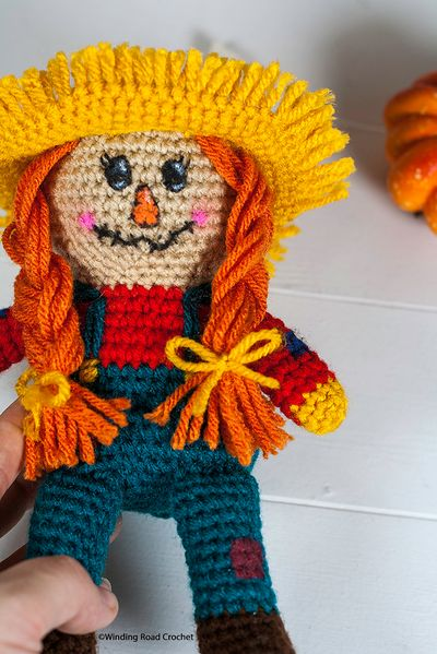Free Crochet Scarecrow Doll Pattern For Beginners