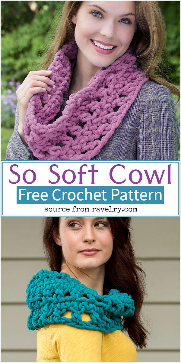 Free Crochet So Soft Cowl Pattern