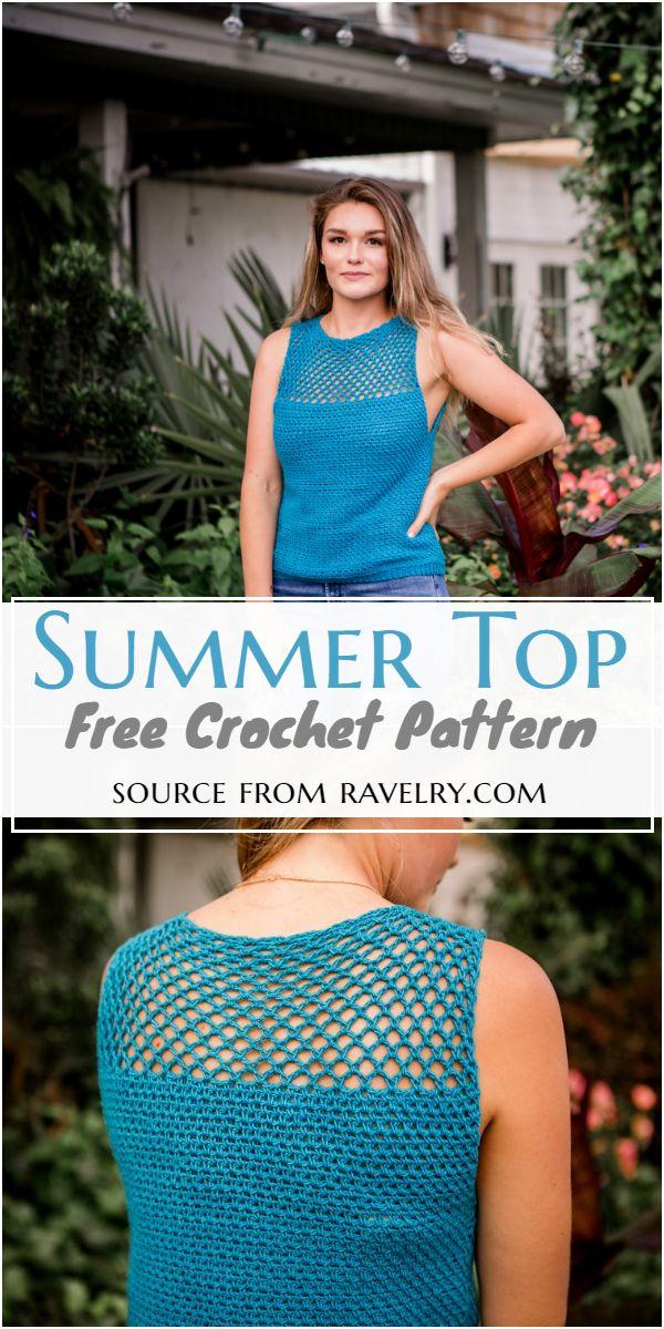 Free Crochet Summer Top Pattern
