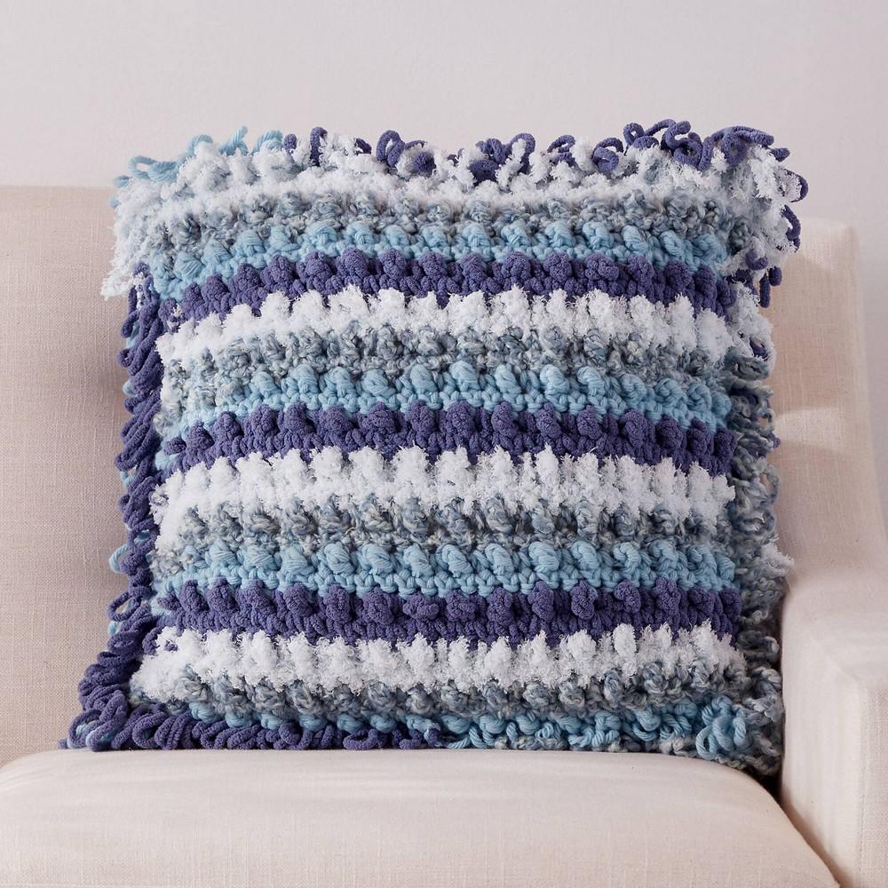 Free Crochet Texture Festival Pillow Pattern