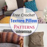 15 Free Crochet Texture Pillow Patterns To Decor Your Home