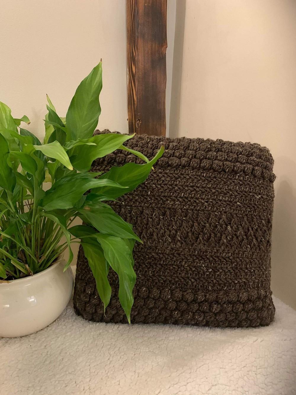 Free Crochet Textured Dawn Cushion Cover Pattern