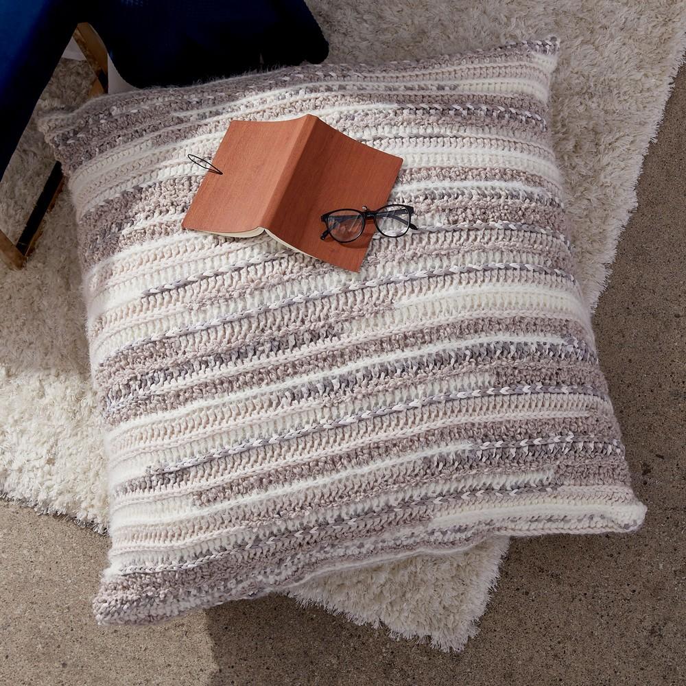 Free Crochet Textured Floor Pillow Pattern