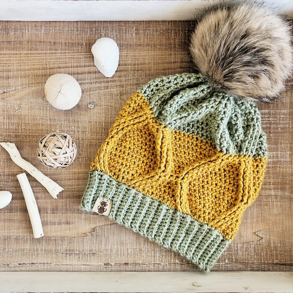 Free Crochet The Pineapple Crown Beanie Pattern