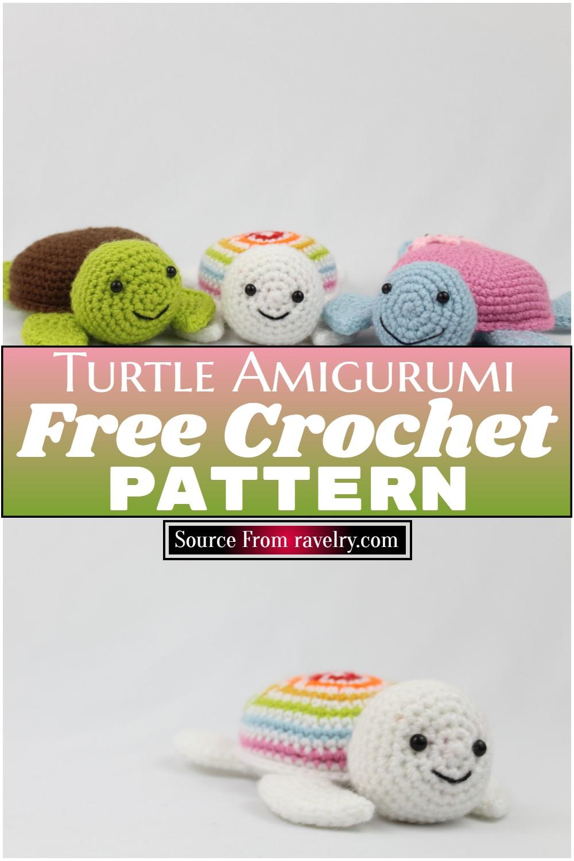 Free Crochet Turtle Amigurumi Pattern