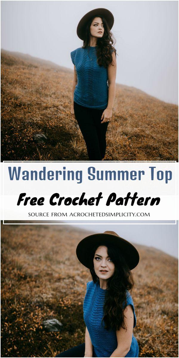 Free Crochet Wandering Summer Top Pattern