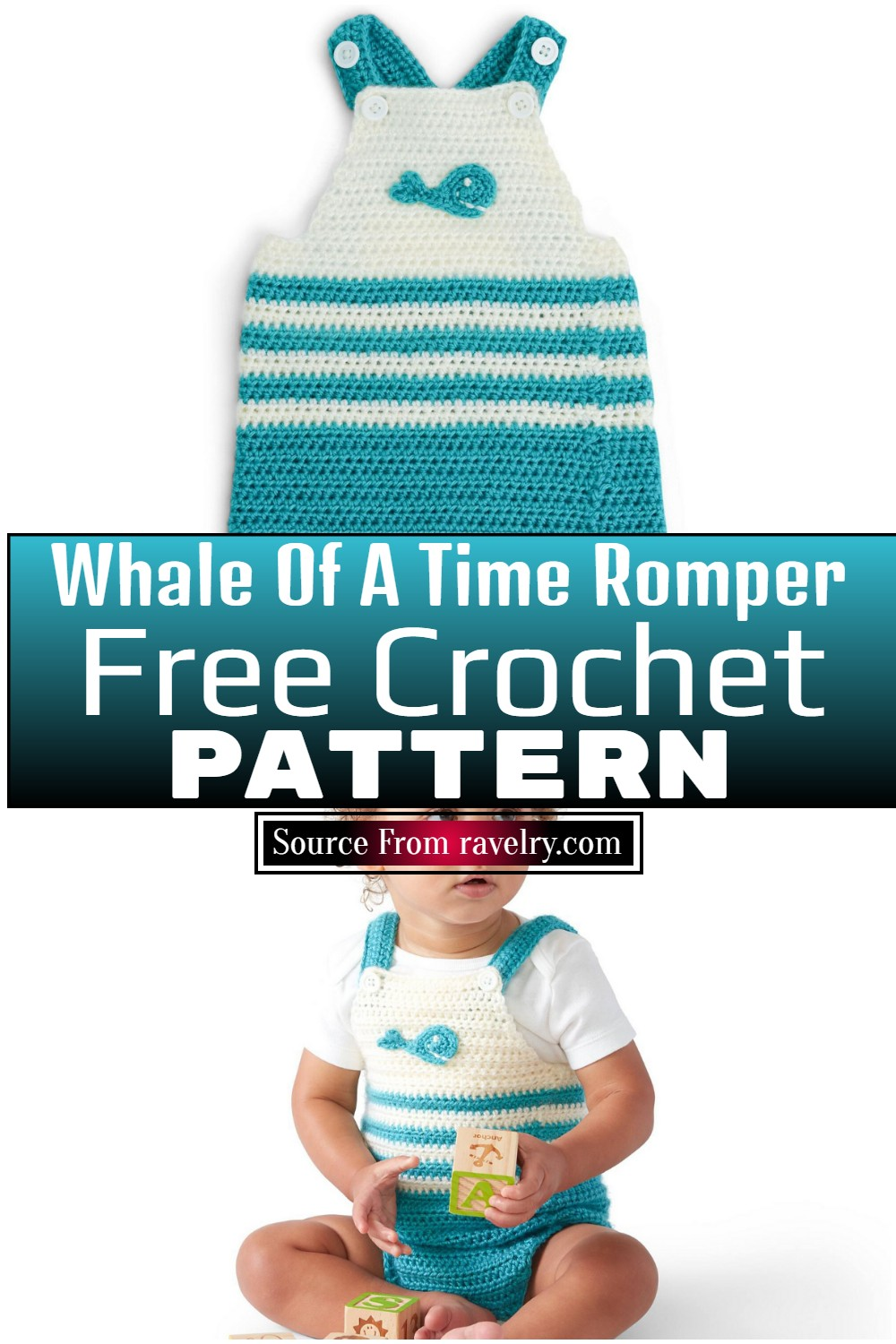 Free Crochet Whale Of A Time Romper pattern