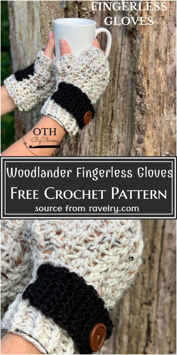 Free Crochet Woodlander Fingerless Gloves Pattern
