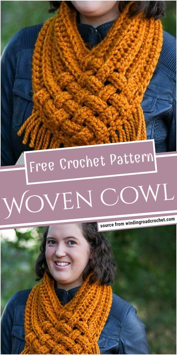 Free Crochet Woven Cowl Pattern