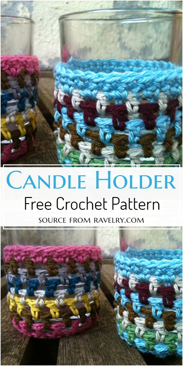 Free Crocheted Candle Holders Pattern