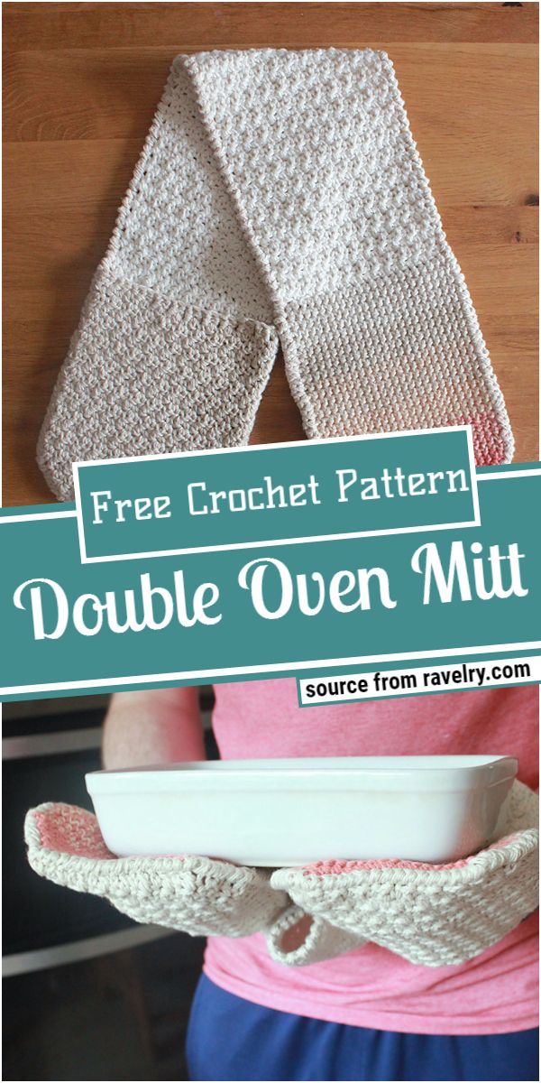 Free Double Crochet Oven Mitt Pattern