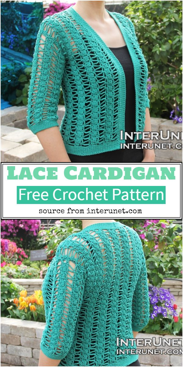 Free Lace Cardigan Crochet Pattern