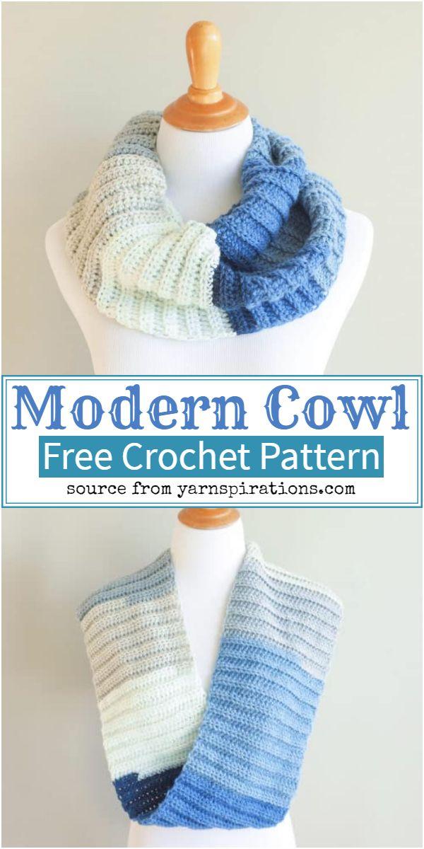 Free Modern Crochet Cowl Pattern