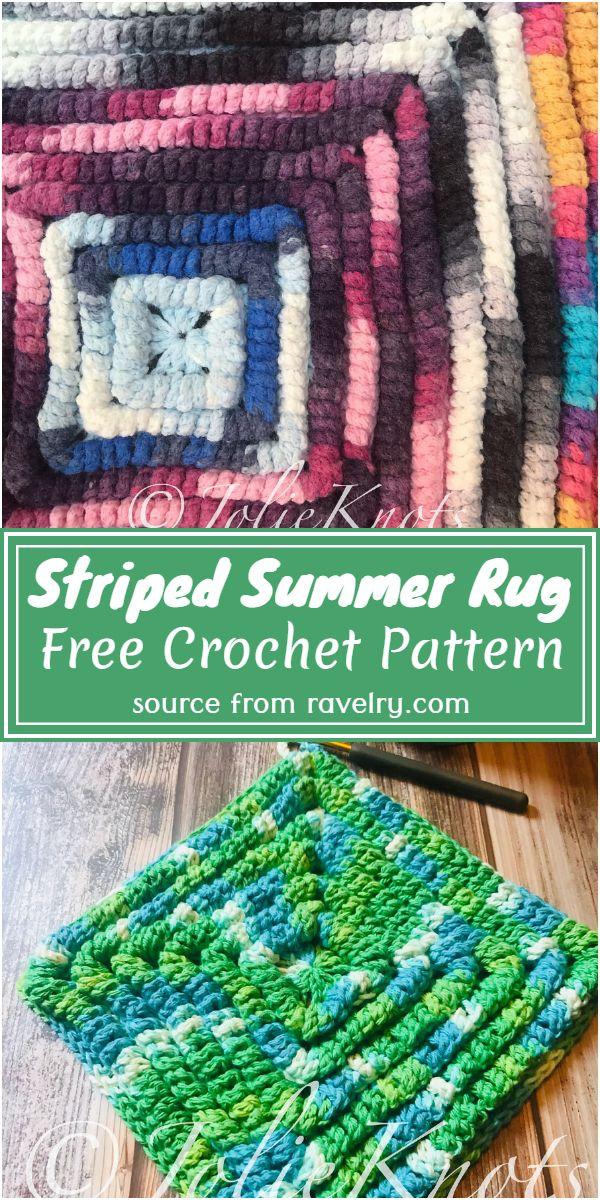 Funky Fun Square Crochet Rug Pattern