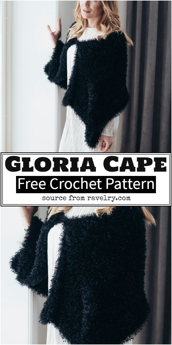 Gloria Crochet Cape Pattern