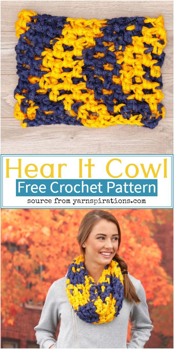 Hear It Cowl Crochet Pattern