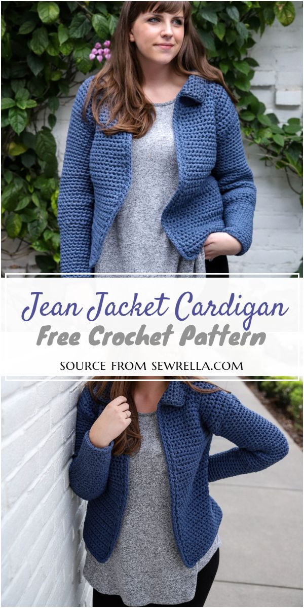 Jean Jacket Crochet Cardigan Pattern