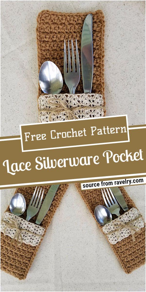 Lace Crochet Silverware Pocket Pattern