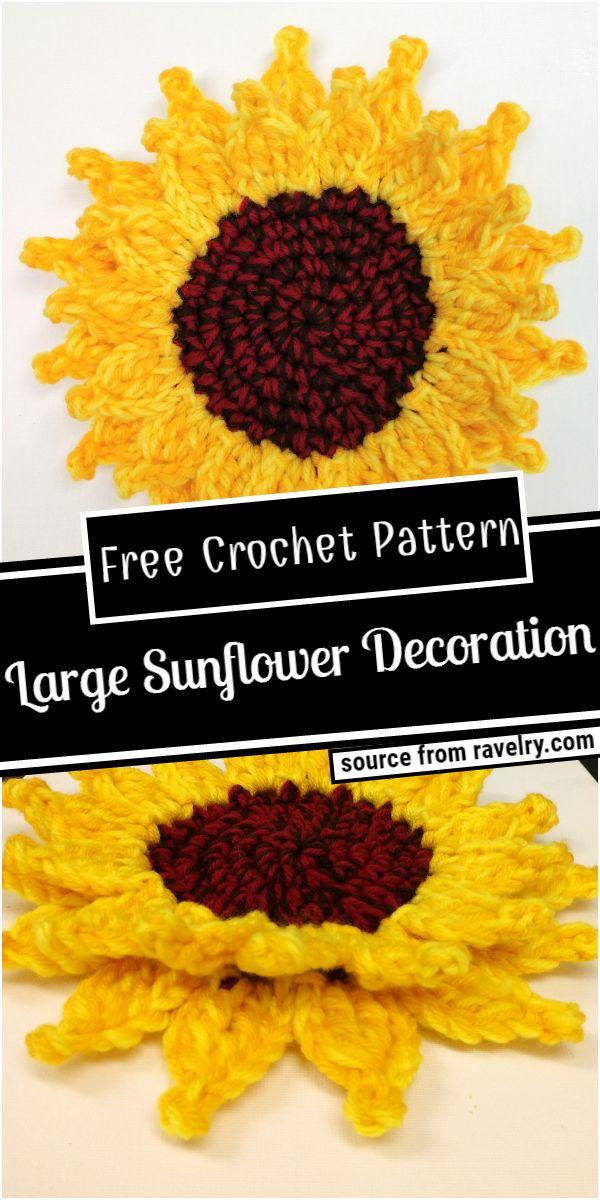 Large Sunflower Decoration Crochet Pattern