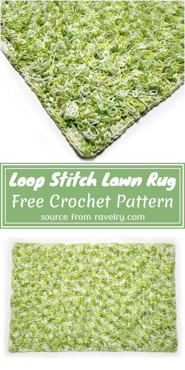 Loop Stitch Lawn Rug Crochet Pattern