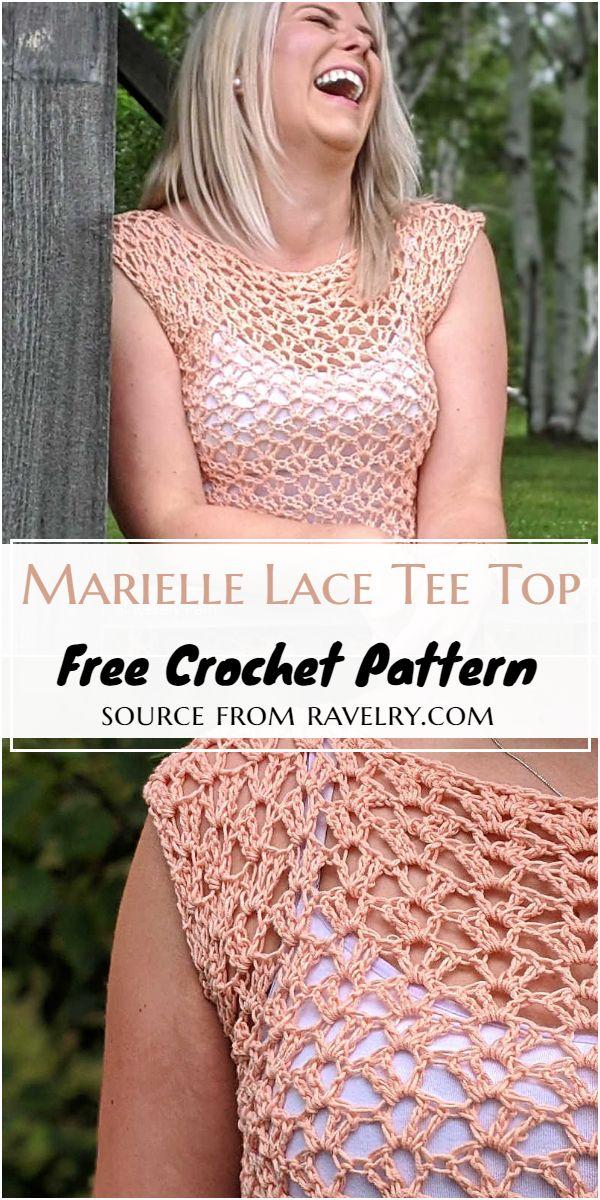 Marielle Lace Tee Crochet Top Pattern