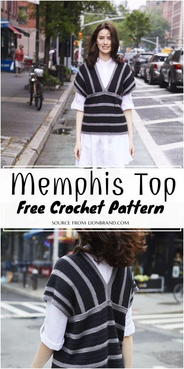 Memphis Top Free Crochet Pattern