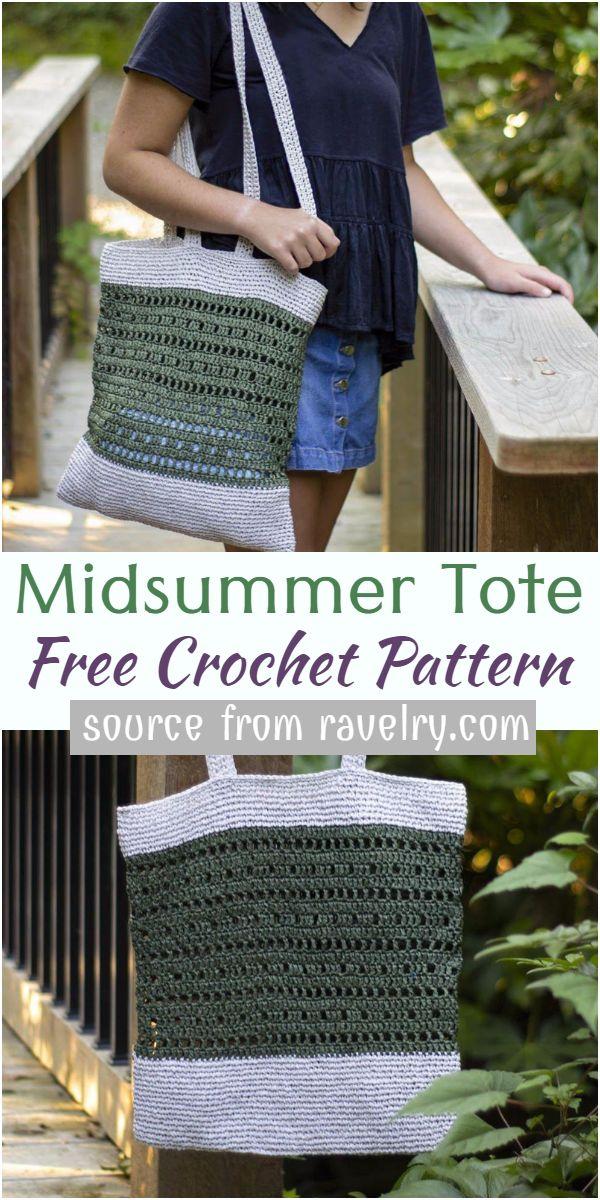Midsummer Crochet Tote Pattern