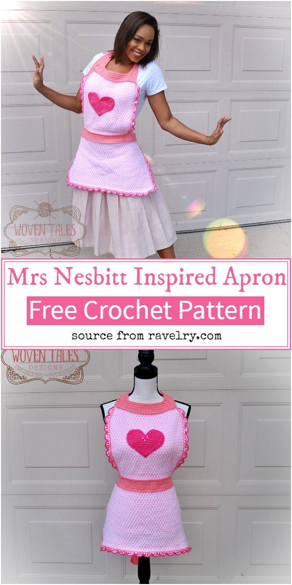 Mrs Nesbitt Inspired Crochet Apron