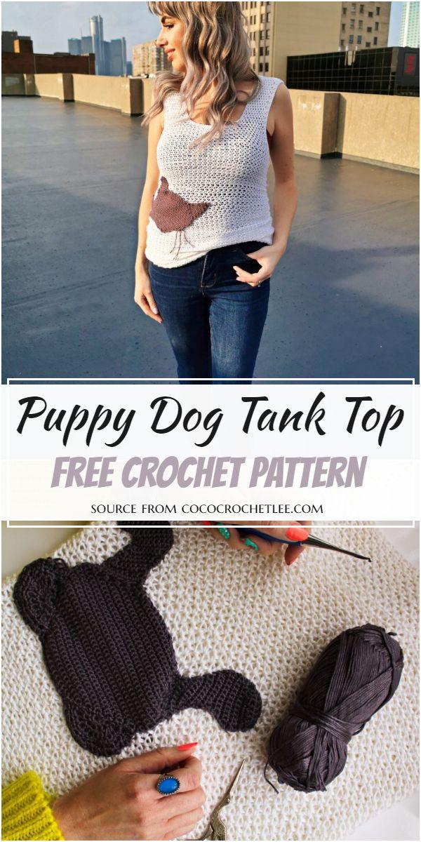 Puppy Dog Crochet Tank Top Pattern