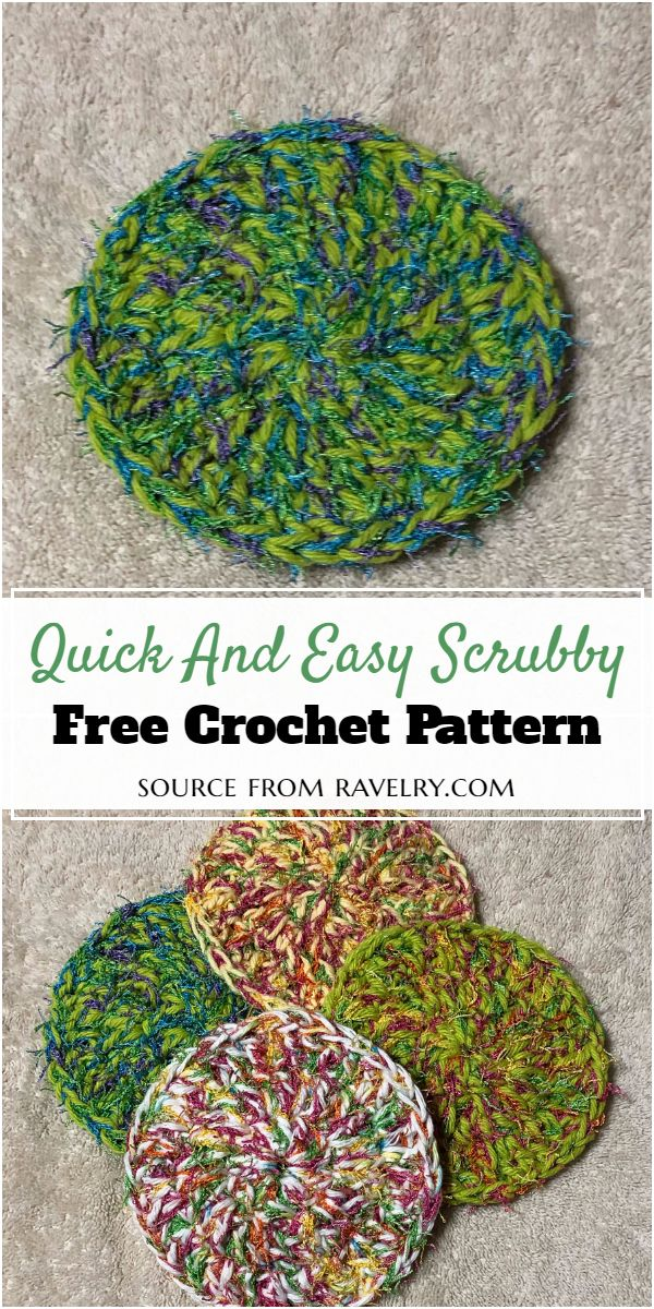 Quick And Easy Crochet Scrubby Pattern