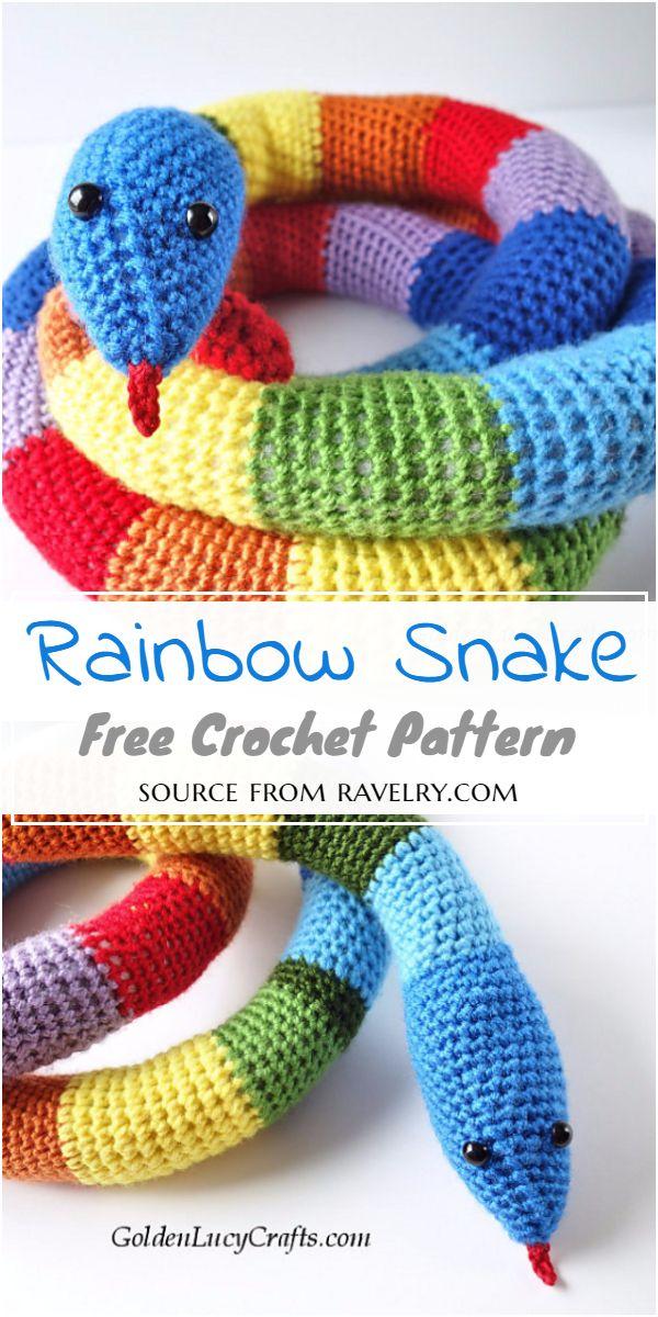 Rainbow Snake Crochet Pattern