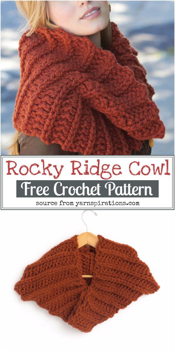 Rocky Ridge Cowl Crochet Pattern