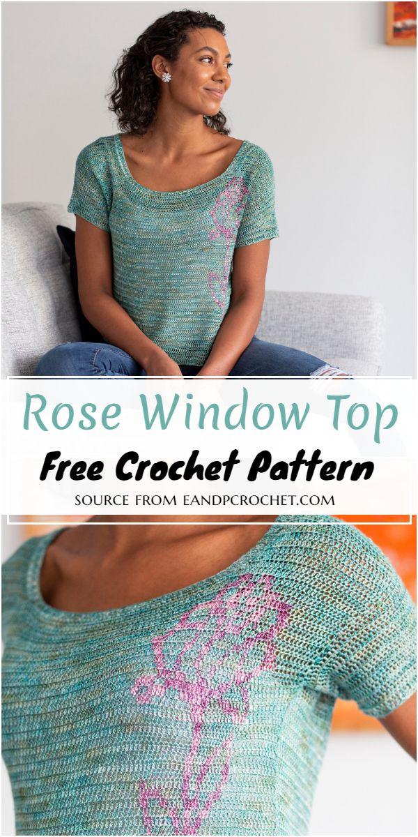 Rose Window Crochet Top Free Pattern