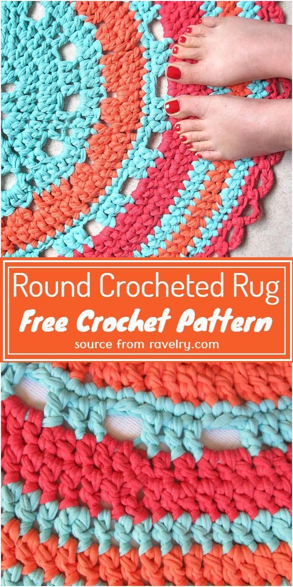 Round Crocheted Rug Crochet Pattern
