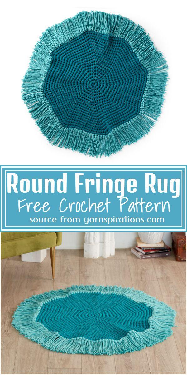 Round Fringe Crochet Rug Pattern