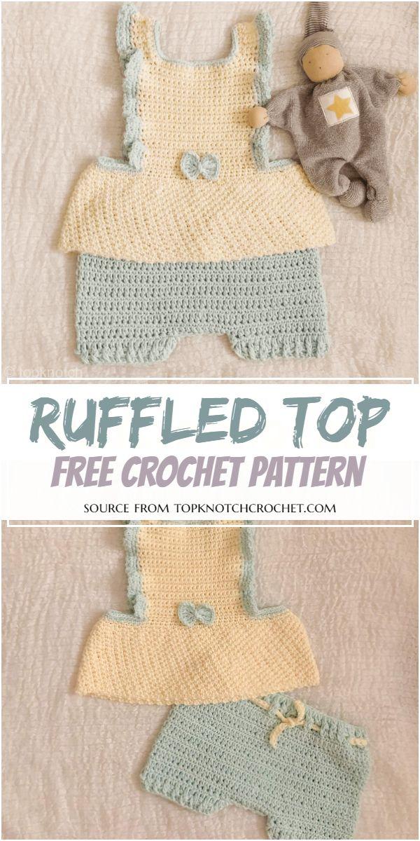 Ruffled Crochet Top Free Pattern