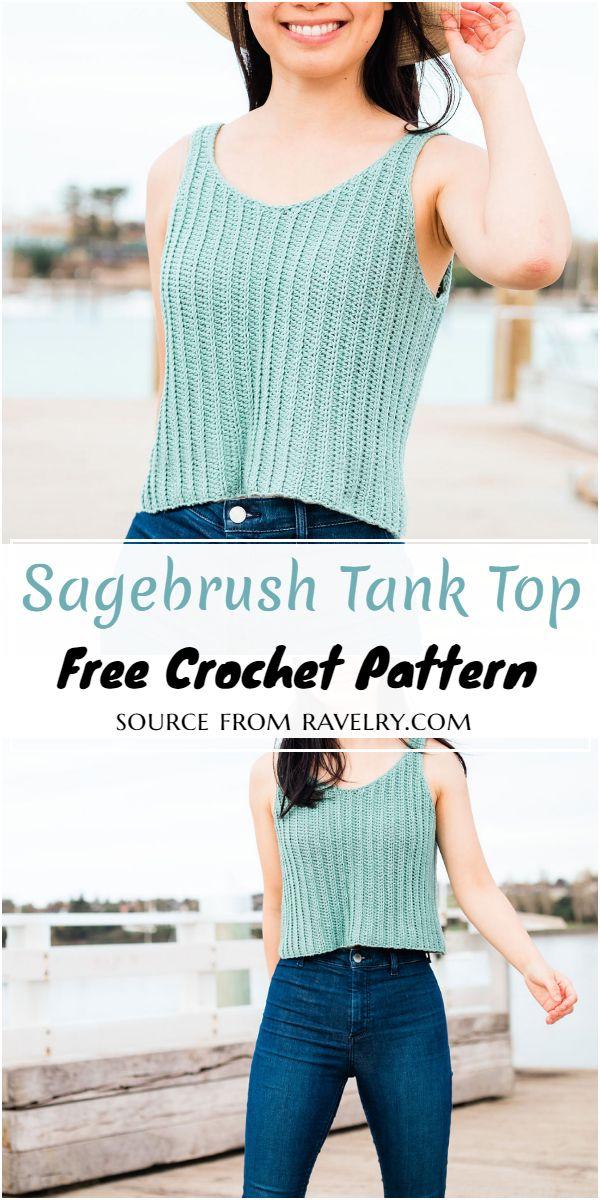 Sagebrush Crochet Tank Top Free Pattern