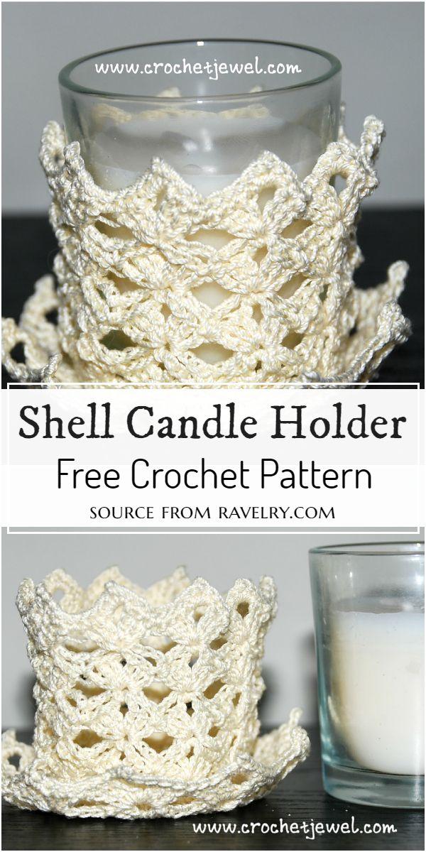 Shell Crochet Candle Holder Pattern