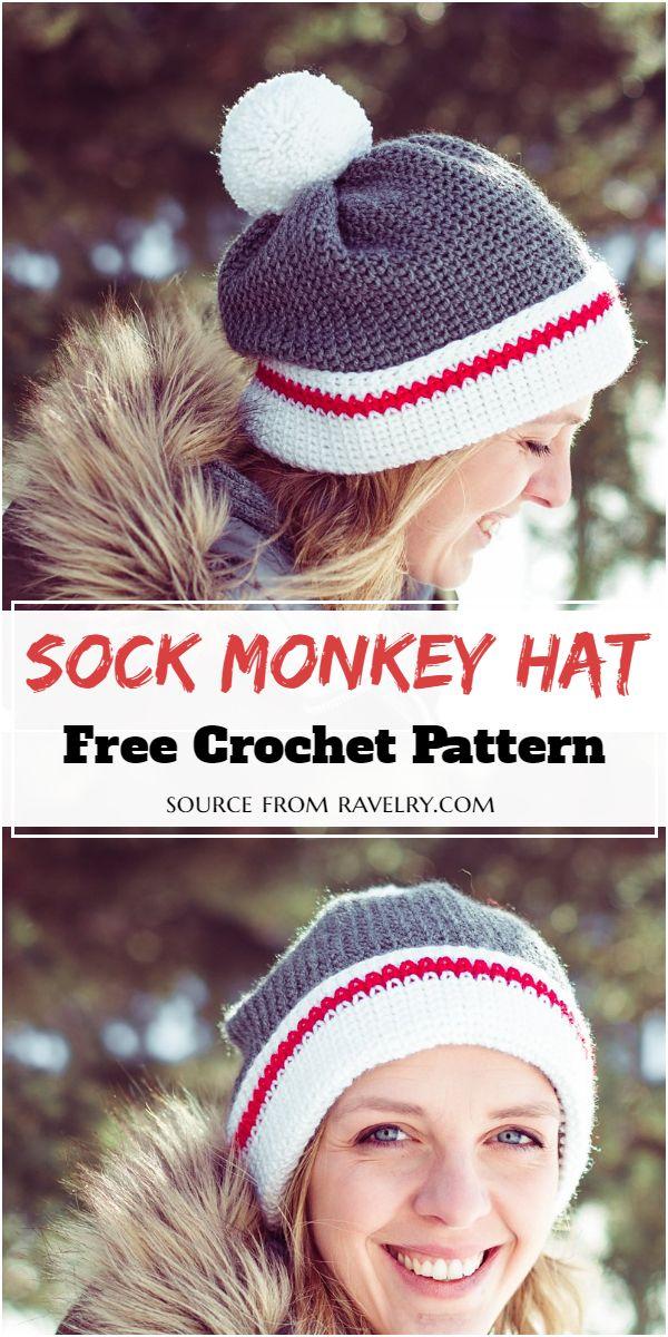Sock Hat Crochet Pattern