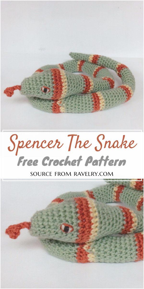 Spencer The Crochet Snake Pattern
