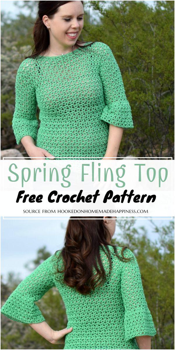 Spring Fling Crochet Top Free Pattern