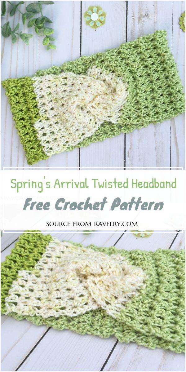 Spring's Arrival Twisted Headband Crochet Pattern
