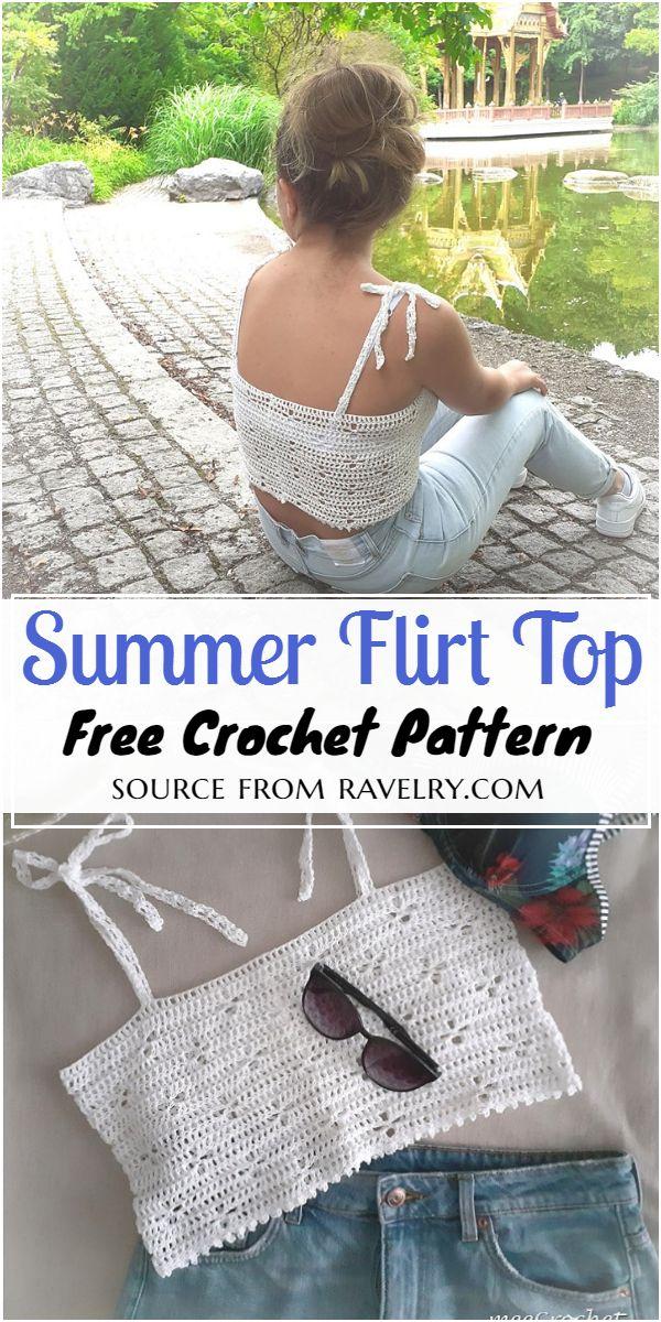 Summer Flirt Top Crochet Pattern