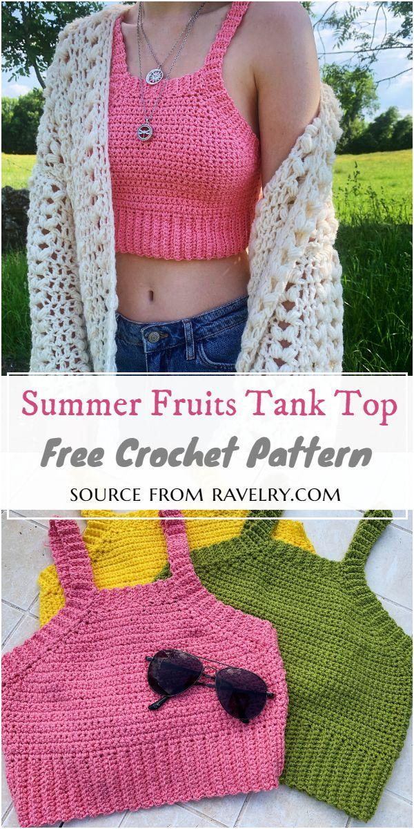 Summer Fruits Crochet Tank Top Pattern